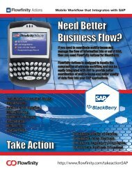 Flowfinity Actions for SAP Business One
