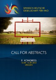 HNO 2012 call for Abstracts - HNO Assistenten-Portal - Deutsche ...