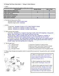 AP Biology Final Exam Study Guide 1: Ecology ... - Hart High School