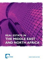 THE MIDDLE EAST AND NORTH AFRICA - DLA Piper REALWORLD