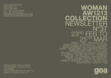 WOMAN AW1213 COLLECTION NEWSLETTER ... - Goa Corporation