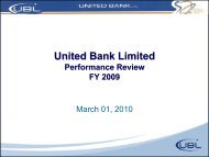 Rs B - United Bank Limited