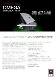 saj tl5k series specification sheet - Solar Energy Australia