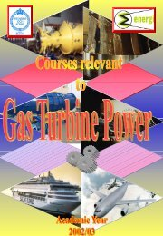 Courses in Gas Turbine Power - KTH