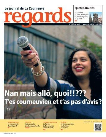 REGARDS N° 380 du jeudi 11 au mercredi 24 avril 2013 - Courneuve