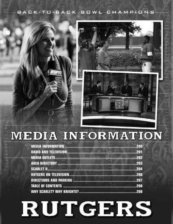 MEDIA INFORMATION ............................................................. - Rutgers
