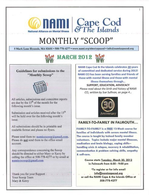 Monthly Scoop - March 2012 - NAMI