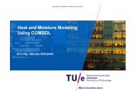 Heat and Moisture Modeling Using COMSOL dr.ir ... - COMSOL.com