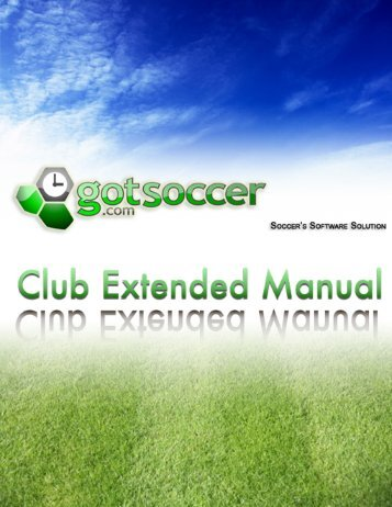 How to Create a Program: Step 1 - GotSoccer.com