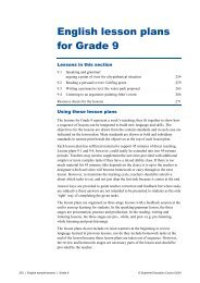 English lesson plans for Grade 9