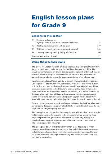 lesson plan in music grade 7