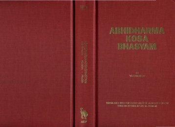Abhidharmakosabhasyam, vol 2