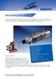 Micro-Dosing Pump DOP4 - Werucon Automatisierungstechnik GmbH