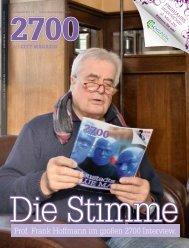 Prof. Frank Hoffmann im großen 2700 Interview.