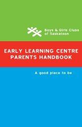 Handbook - Boys & Girls Clubs of Saskatoon