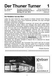 Der Thuner Turner 1 - Turnverein Thun