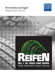Anmeldeunterlagen Application forms - Reifen-Messe
