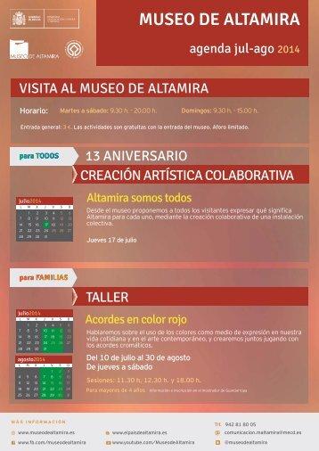 Agenda de Actividades del Museo de Altamira