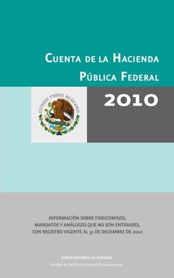 CUENTA DE LA HACIENDA PÚBLICA FEDERAL - Secretaría de ...