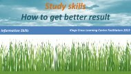 Study skills How to get better result