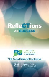 Download the conference brochure - Connecticut Association of ...