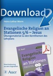 Evangelische Religion an Stationen 5/6 – Jesus