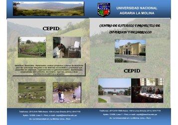 BROCHURE CEPID - Universidad Nacional Agraria La Molina