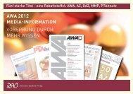 AWA 2012 Media-information Vorsprung durch mehr Wissen