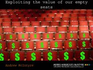 Exploiting the value of our empty seats - Audiences NI
