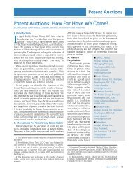 Patent Auctions: How Far Have We Come? - Analysis Group