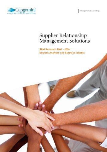 Supplier Relationship Management Solutions - Kennisportal e ...