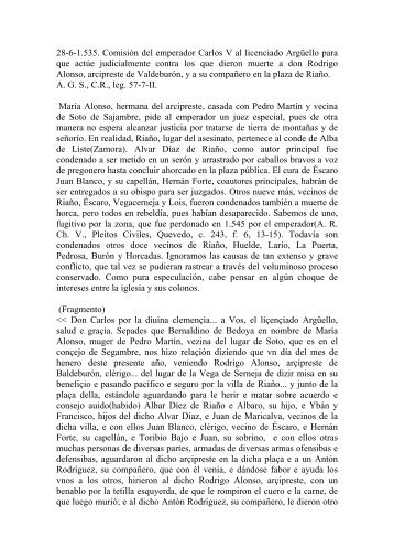 28-6-1.535. Comisión del emperador Carlos V al licenciado ...