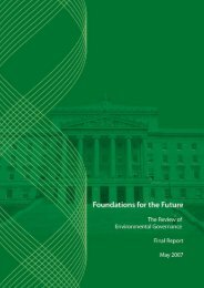 foundations for the future - final report - Department of the Environment