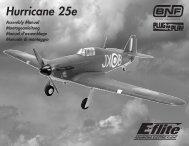 Hawker Hurricane 25e Manual - English - Horizon Hobby