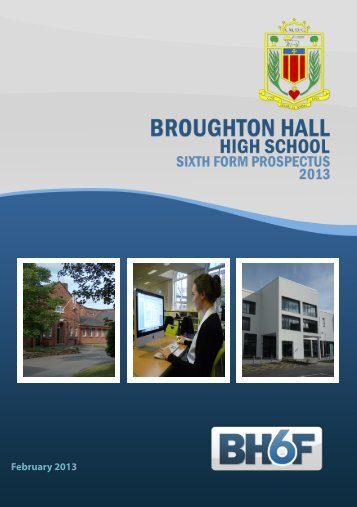 Sixth Form Prospectus 2013 - Broughton Hall High School