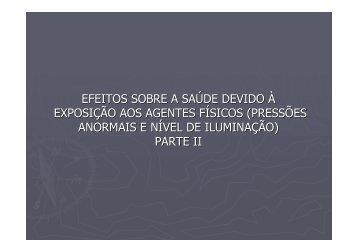 efeitos sobre a saúde devido à exposição aos agentes ... - IESC/UFRJ
