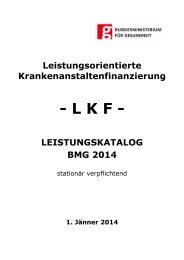 Leistungskatalog BMG 2014 - Bundesministerium für Gesundheit