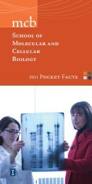2010 Pocket Facts.indd - The School of Molecular and Cellular Biology