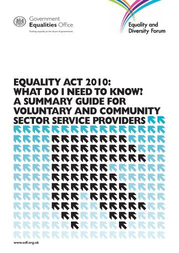 Equality Act 2010: What do I need to know? - Gov.uk