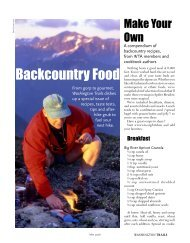 Backcountry Food - Washington Trails Association