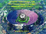 Scientific Opportunities with 30m Ground-Based Telescopes: Status ...