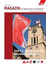 """DGB für """"Renaissance des öffentlichen Dienstes"""" - Landesbeamte"""