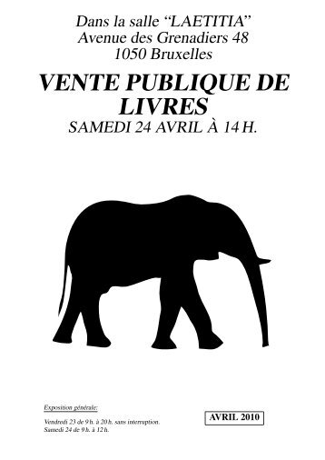 Catalogue - Librairie des Éléphants