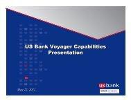 US Bank Voyager Capabilities Presentation
