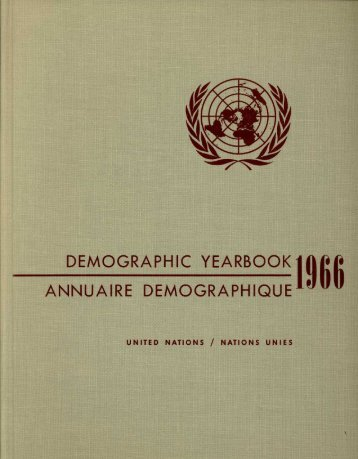 demographic yearbook annuaire demographique - Millennium ...