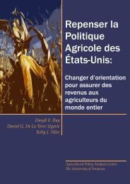 RUAP version Fr.pub - Agricultural Policy Analysis Center