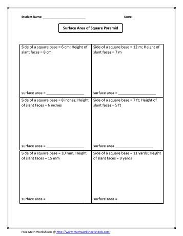 volume of cone worksheet math worksheets for kids. Black Bedroom Furniture Sets. Home Design Ideas
