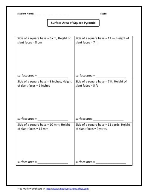 Area and perimeter worksheets  rectangles and squares moreover Surface area of square pyramid   Math Worksheets For Kids further Find the Area   Counting Square Units Differentiated Worksheet as well  furthermore Geometry Worksheets   Area and Perimeter Worksheets together with area worksheets in addition Geometry  Counting Area   Worksheet   Education in addition Perimeter And Area Worksheet Rectangle Or Square   TpT besides  furthermore Area Worksheets likewise Find The Area Of Irregular Shapes Worksheets Finding Area And moreover Measurement Worksheets moreover  moreover Rectangle Worksheets Area And Perimeter Worksheets Grade 6 Worksheet as well Geometry Worksheets   Area and Perimeter Worksheets as well . on area of a square worksheet
