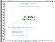 LESSON 2 - Production - CNC - Computer Numerical Control