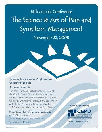 Pain & Symptom 2008 Brochure.qxd - CEPD University of Toronto